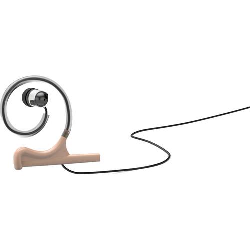 d:fine Single In-Ear Broadcast Headset Mount, Beige, Single-Ear