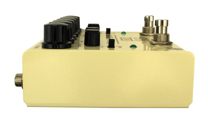 Stereo Overdrive and Compression Guitar Pedal