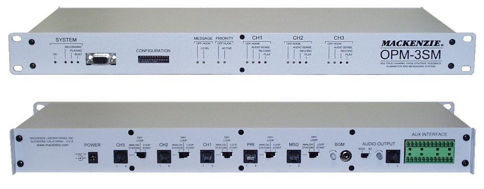 Paging System, 3-channel, 1RU
