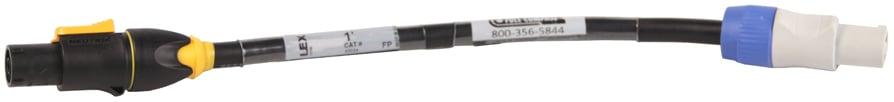 1 ft PowerCon Gray to True1 Adapter
