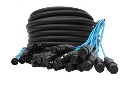 Elite Core Audio PEX16100  100 Ft, 16 Channel Fan to Fan XLR Extension Snake PEX16100