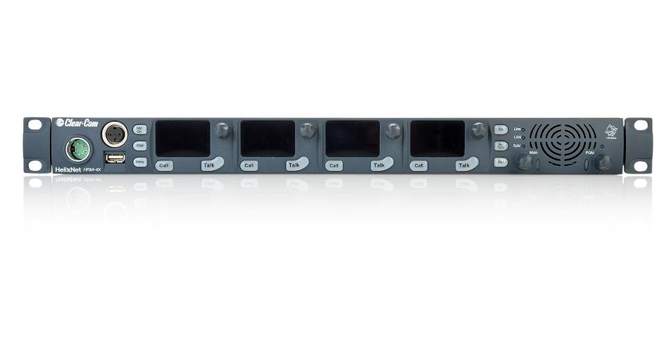4-Channel 1RU Digital Partyline Headset w/ Spkr Remote Sys