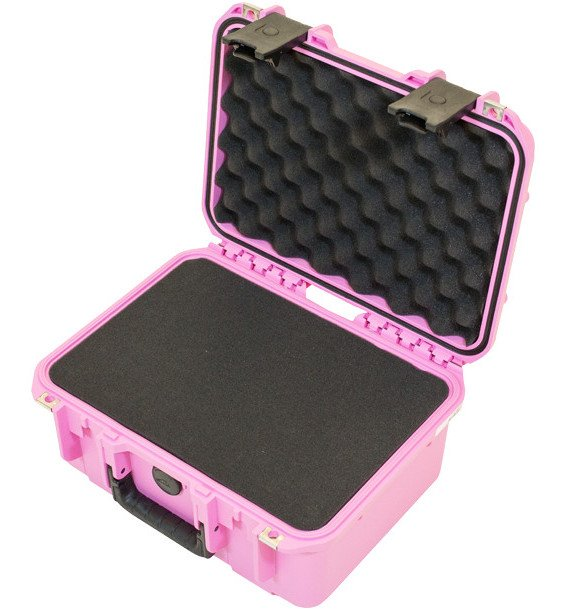 iSeries Waterproof Utility Case with Cubed Foam, Pink