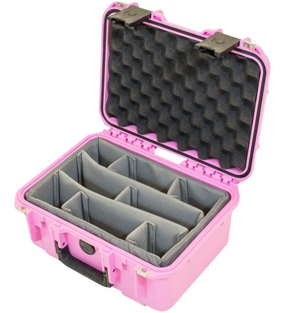 iSeries Waterproof Utility Case with Padded Dividers, Pink