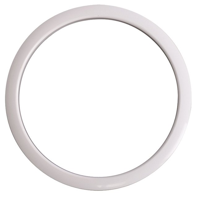 "6"" Bass Drum Port Hole Protector in White"