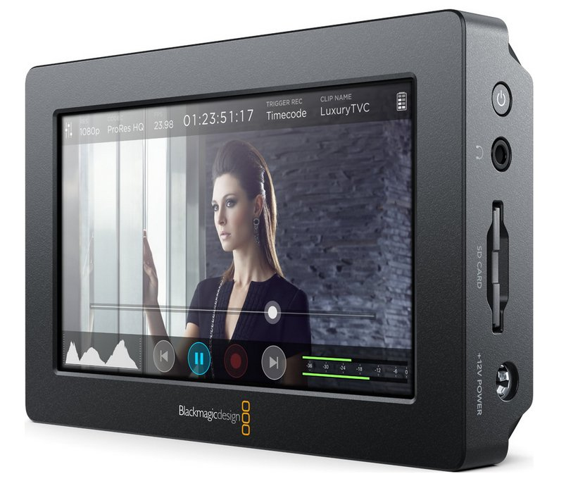 "5"" Full HD Touchscreen Field Monitor with 10-bit 4:2:2 Recorder"