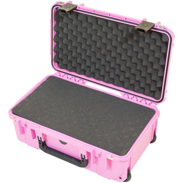 iSeries Waterproof Utility Case with Cubed Foam Interior and Wheels, Pink