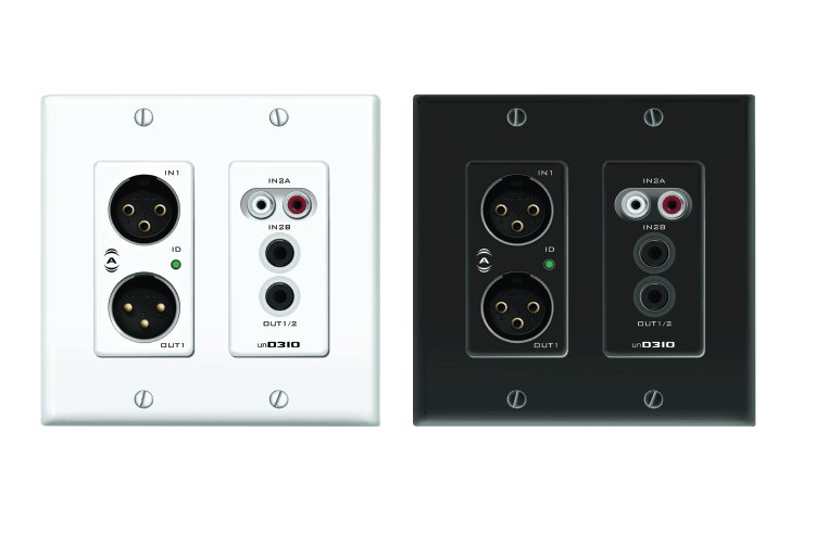 2x2 Channel Dante Audio Interface 2-Gang Wall Box
