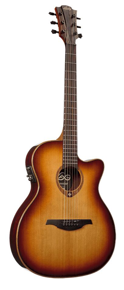 lag guitars t100asce brs tramontane 100 auditorium slim cutaway acoustic electric guitar with. Black Bedroom Furniture Sets. Home Design Ideas
