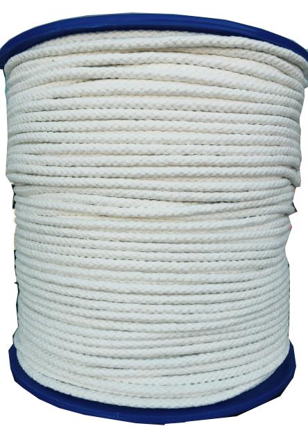 "1000 ft of 1/8"" Diamond Braid Cotton Tie Line in White"