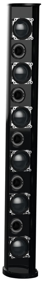 ENTASYS Low Frequency Extension Column Line Array System in Black