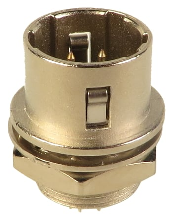 Male 4-Pin Panel Mount Connector