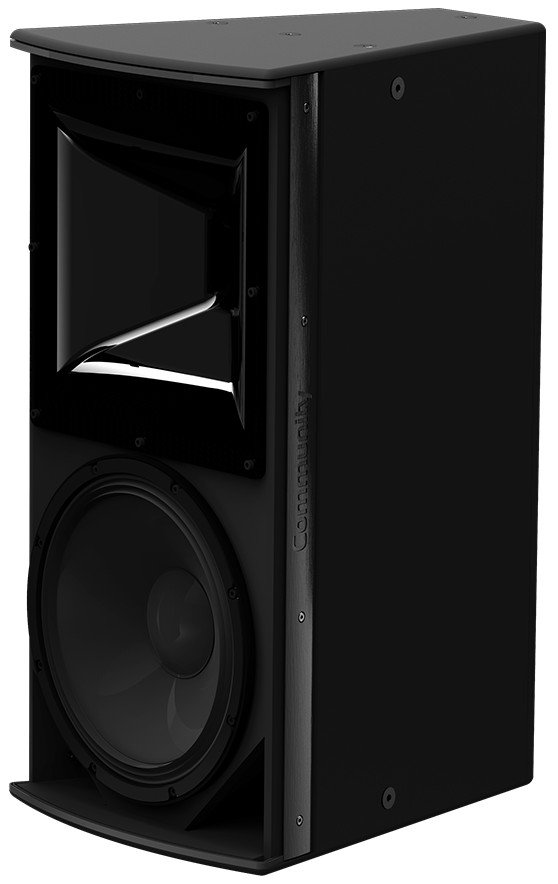 "I Series 12"" 2-Way 600W (8 Ohms) Passive/Bi-Amp Installation Loudspeaker in Black with 120°x60° Dispersion"