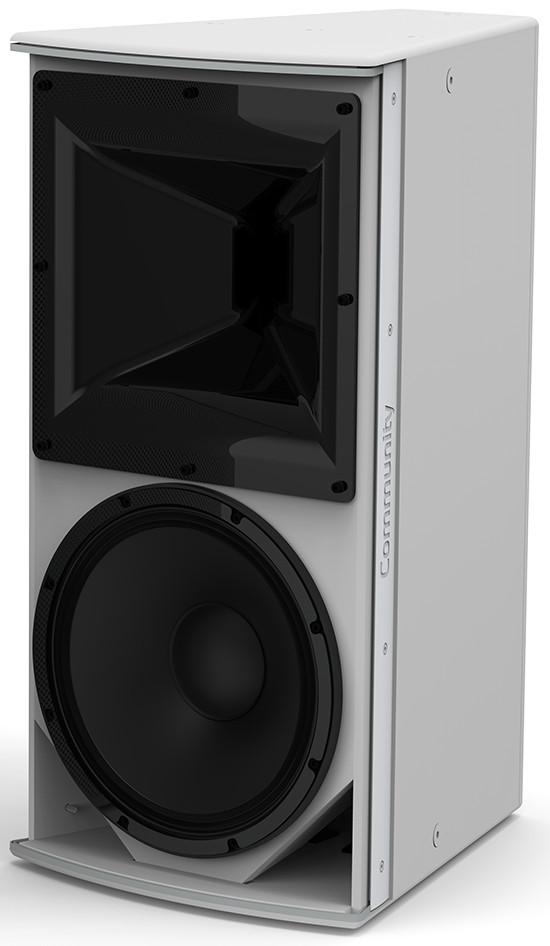 "I Series 12"" 2-Way 600W (8 Ohms) Passive/Bi-Amp Installation Loudspeaker in White with 90°x40° Dispersion"