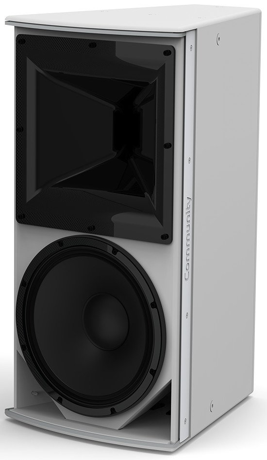 "I Series 12"" 2-Way 600W (8 Ohms) Passive/Bi-Amp Installation Loudspeaker in White with 90°x90° Dispersion"
