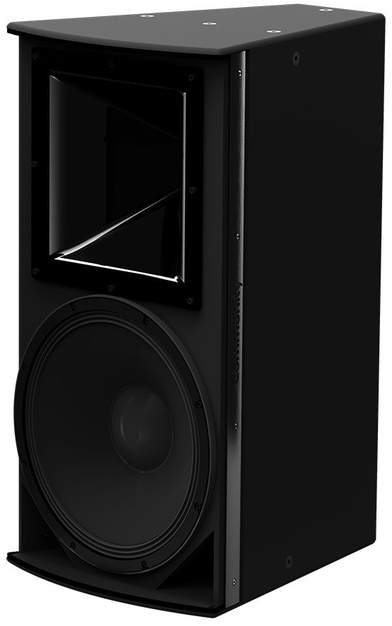 "I Series 15"" 2-Way 600W (8 Ohms) Passive/Bi-Amp Installation Loudspeaker in Black with 90°x60° Dispersion"