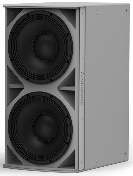 """I Series Dual 12"""" 1400W (4 Ohms) Passive Installation Subwoofer in White"""