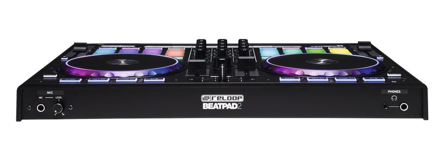 2-Deck DJ Controller with 16 RGB-Backlit Drum Pads