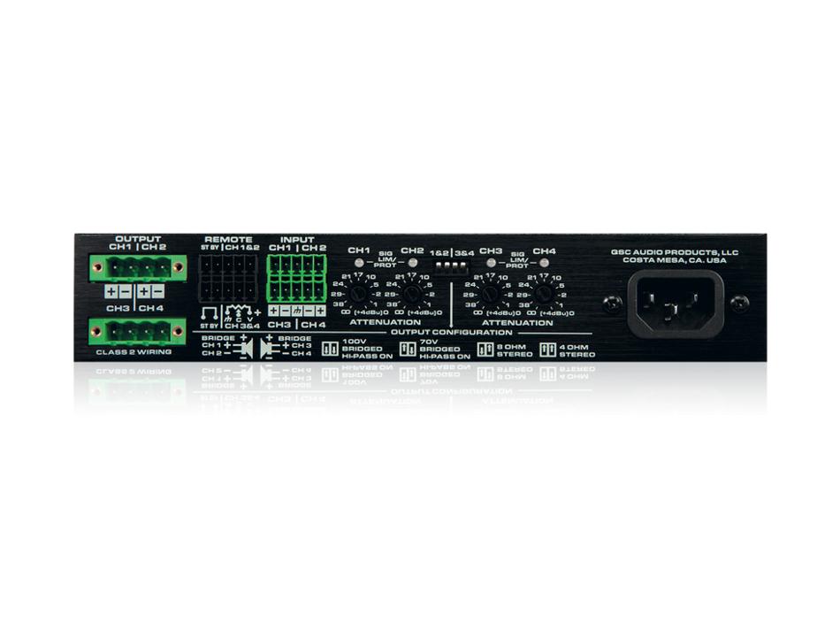 4-Channel, Low Impedance Amplifier