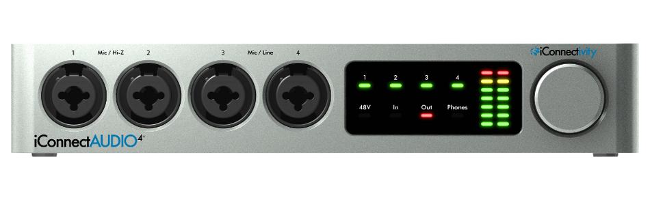 4x4 USB Audio/MIDI Interface with Multi-Host Connectivity