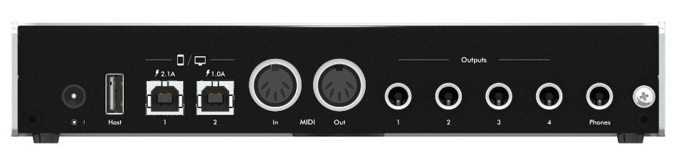 4x4 USB Audio/MIDI Interface with Multi-Host Connectivity