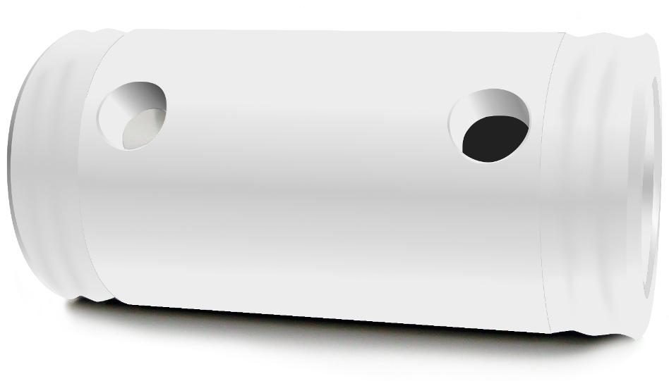 "Short Spacer 105mm (4.1"") in White"