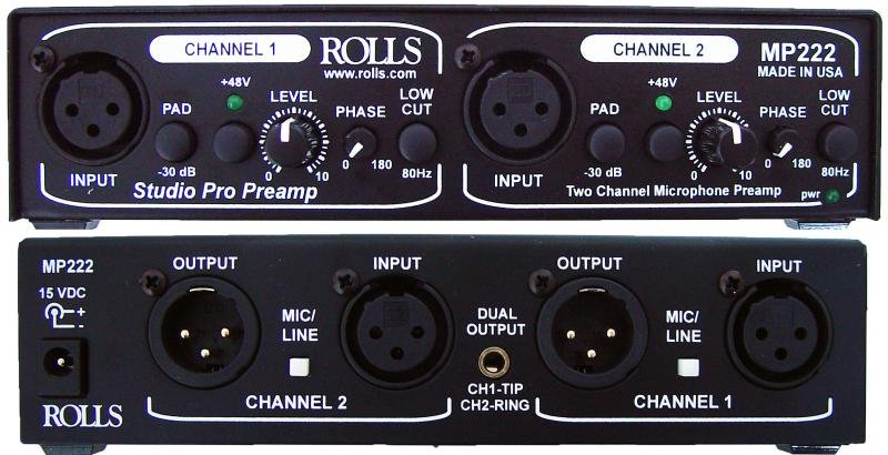 Dual-Channel Studio Microphone Preamp