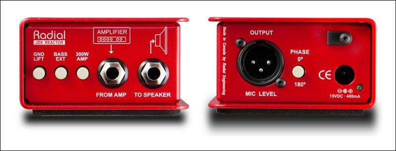 Radial Engineering JDX 48 Reactor Guitar Amplifier Direct Box JDX-48