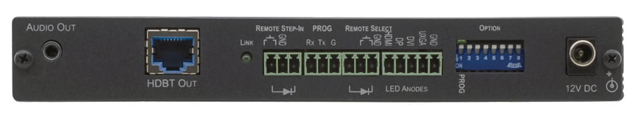 4-Input Multi-Format Video over HDBaseT Transmitter with Step-In Commander