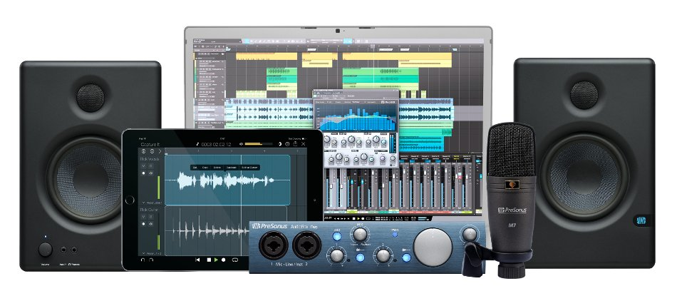 PreSonus AudioBox iTwo Kit Recording Bundle with AudioBox iTwo, Eris e4.5 Monitors, M7 Microphone, and Studio One 3 Artist DAW AUDIOBOX-ITWO-KIT
