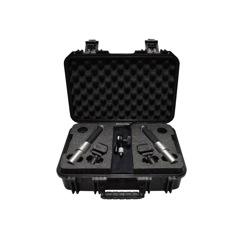 Stereo Mic Kit with Template Bar, Windscreens and Carrying Case