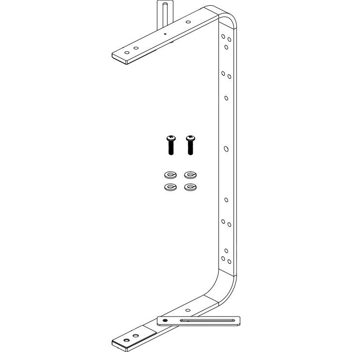 Wall/Ceiling Mounting U-Bracket Kit in Black