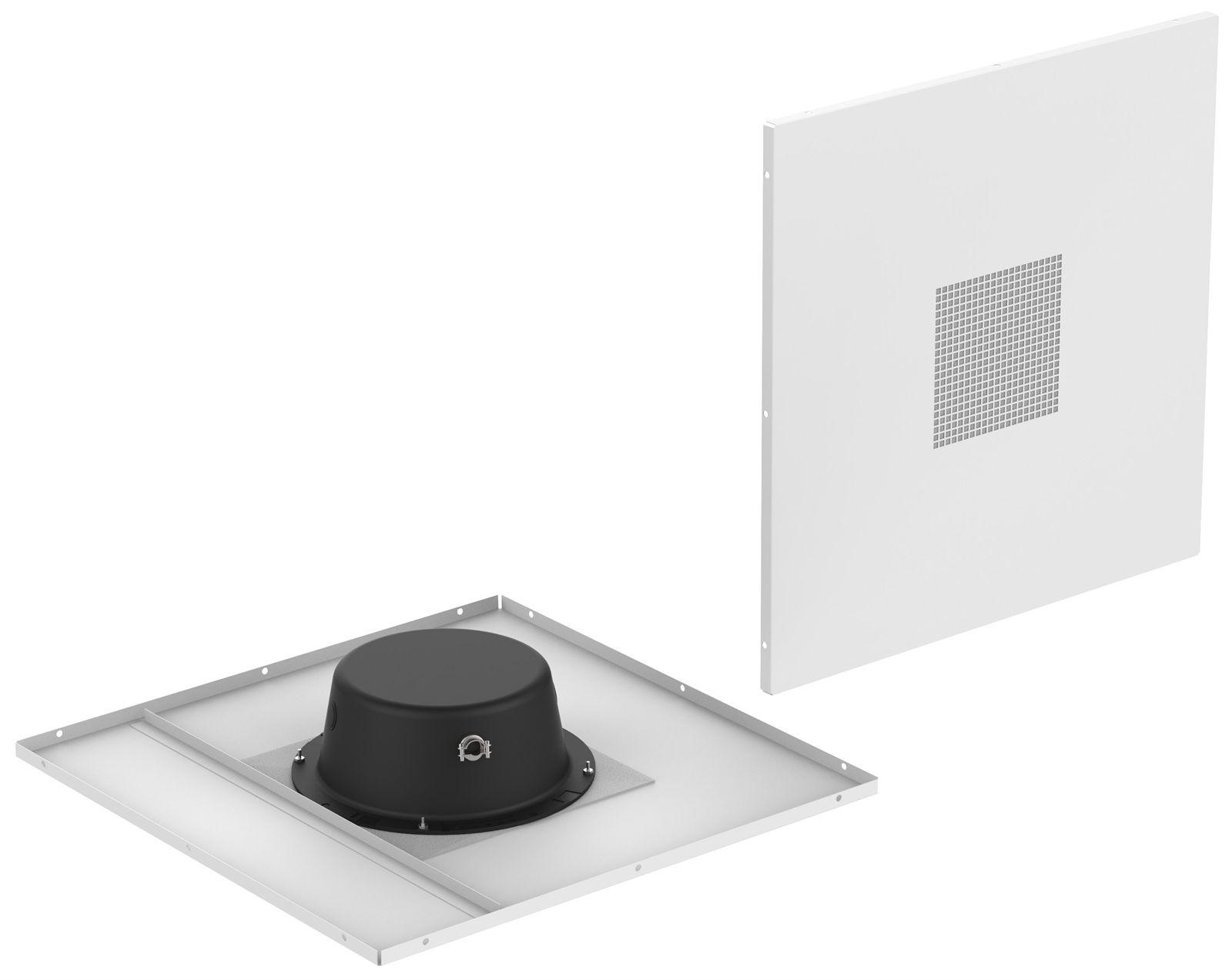 """2' x 2' Drop Tile 8"""" Speaker System, White"""