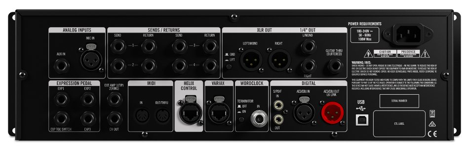 Multi-Effects Guitar Processor - Rackmount Version