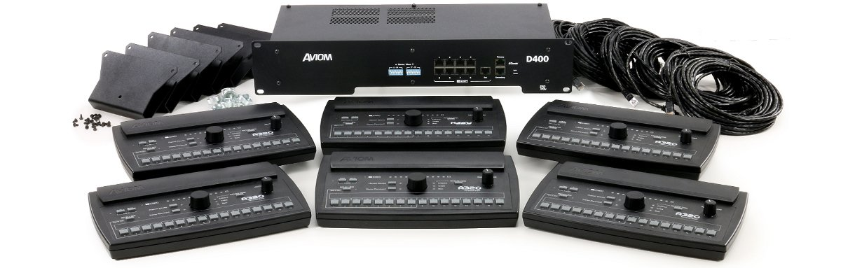 Aviom MIX320-D Personal Mixing System with Dante Interface MIX320-D