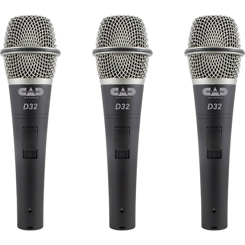 3-Pack of CADLive D32 Dynamic Handheld Microphones