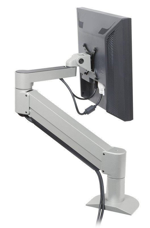 "Argosy Consoles Monitor Arm-S3-P 7500 Series Monitor Arm in Silver for Monitors up to 27"" Wide MONITOR-ARM-S3P"