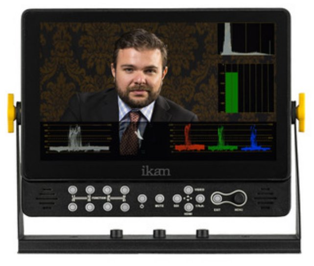 """9"""" Full HD Plus 3G-SDI Monitor with Scopes and Battery Plates"""
