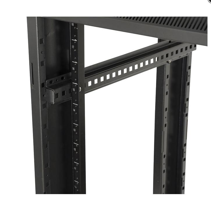 """22U, 23"""" Deep Floor-Standing Rack w/ Steel Doors"""