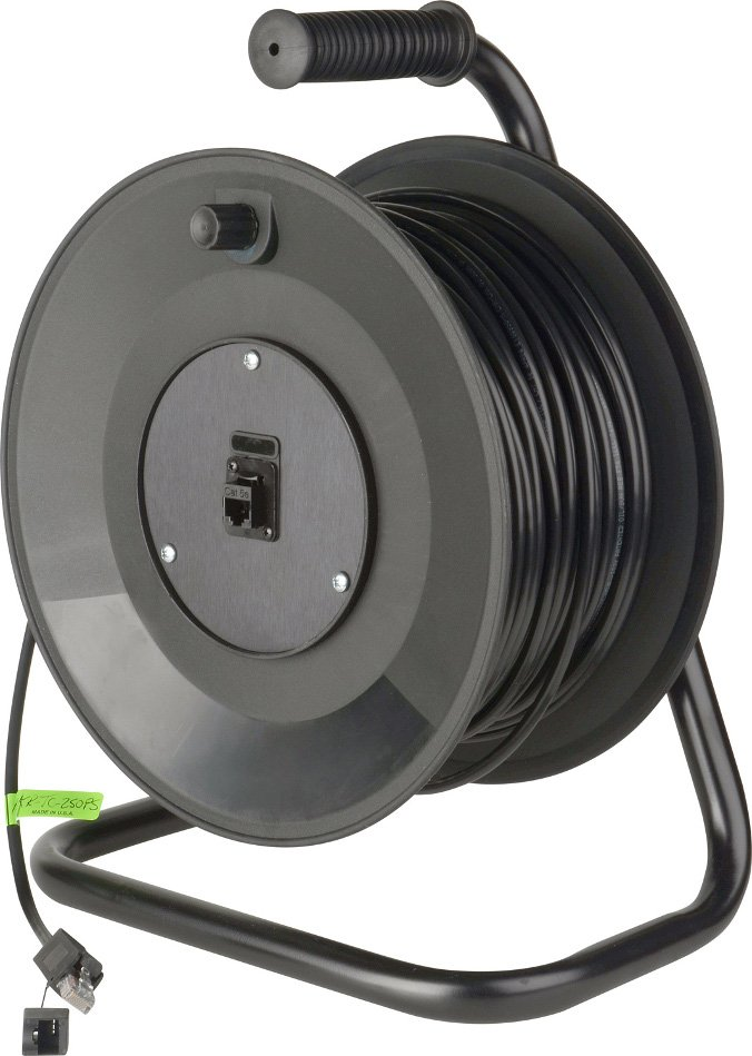 200 ft Connect-N-Go DataTuff Belden Cat5e Cable Reel with ProShell RJ45 Connectors