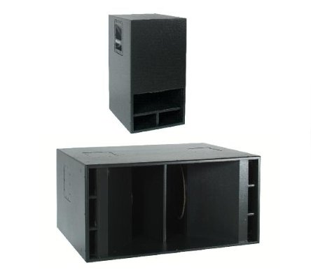 "Dual 15"" Non-Powered Subwoofer, Black"