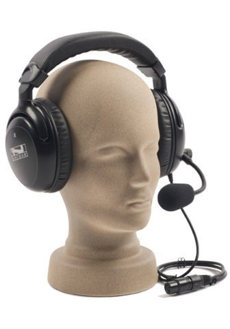 Dual Muff Headset with Noise Cancelling Mic for PortaCom, ProLink
