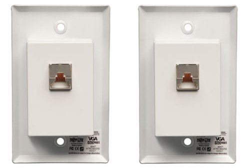 Cat5 / Cat6 Wall Plate VGA Extender Kit with Audio