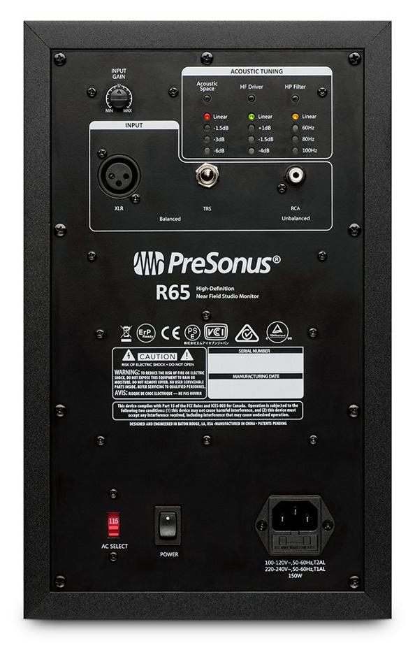 """2-Way, 6.5"""", AMT Active Studio Monitor, 150W biamp"""