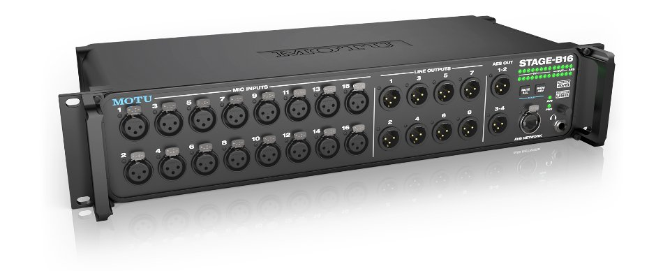 16-Input Networked Stage Box and Audio Interface with Onboard DSP