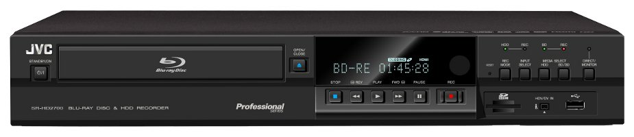 Blu-Ray Disc and HDD Recorder with HD-SDI