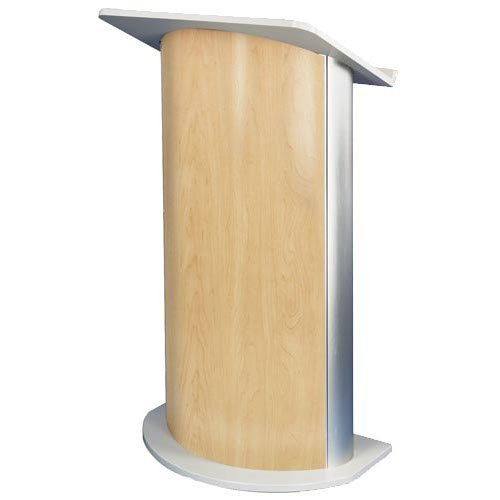 Curved Hardrock Maple Lectern w/ Wireless Sound System