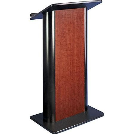 Flat Cherry Panel Lectern w/ Wireless Sound System
