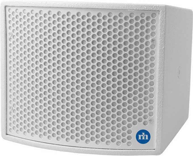 "Compact 4"" Coaxial 2-Way Passive Loudspeaker, White"