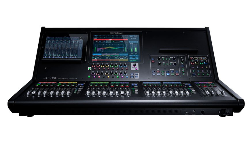 Live Mixing Console, 16 + 4 Faders (20 Faders in 3 Banks)
